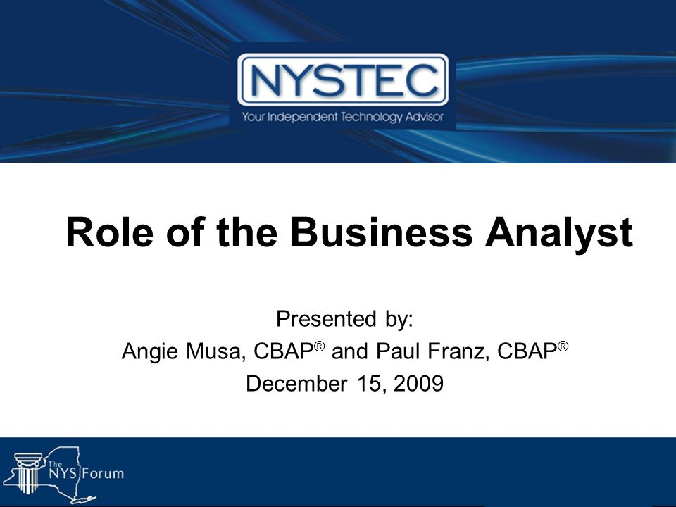 Role of the Business Analyst