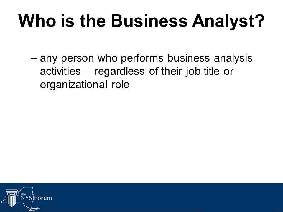 Who is the Business Analyst