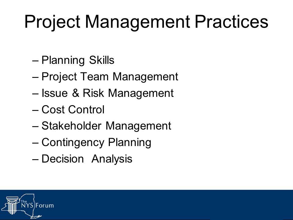 Project Management Practices