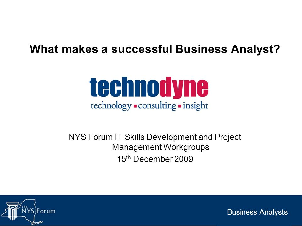 What makes a successful Business Analyst
