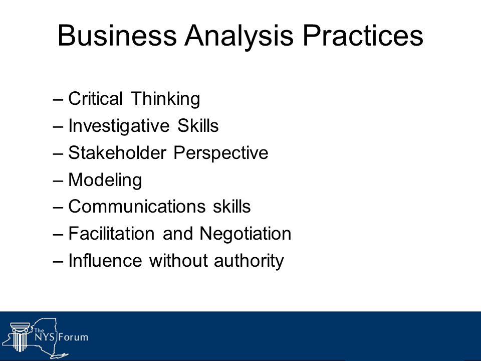 Business Analysis Practices