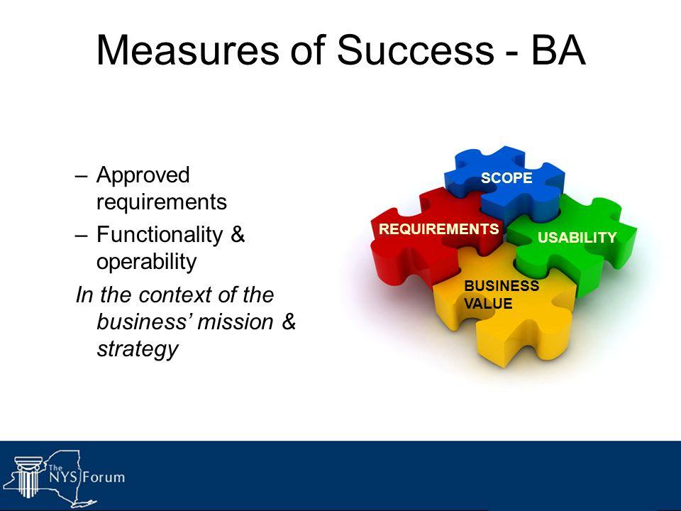 Measures of Success - BA