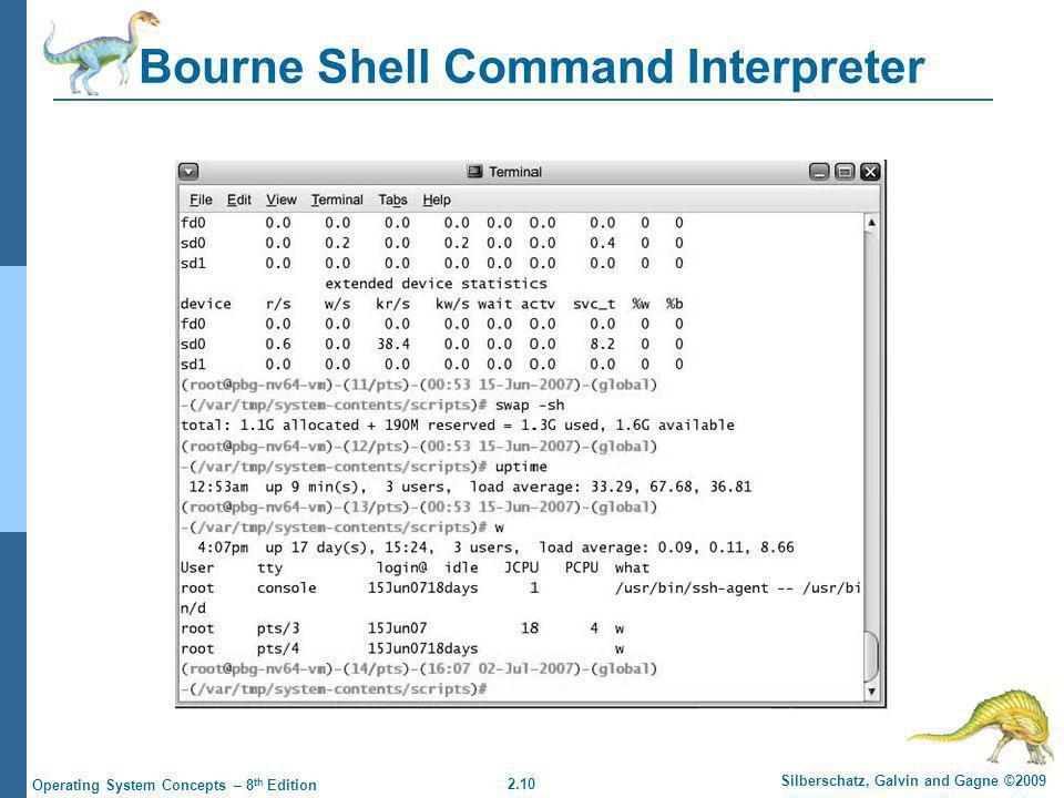 Bourne Shell Command Interpreter