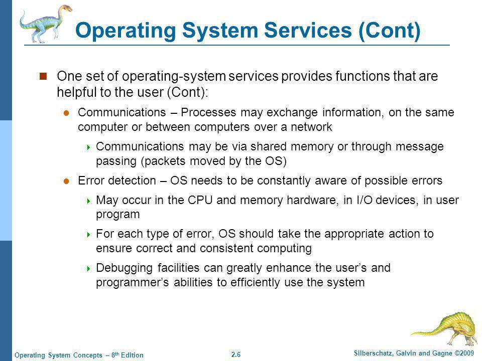 Operating System Services (Cont)
