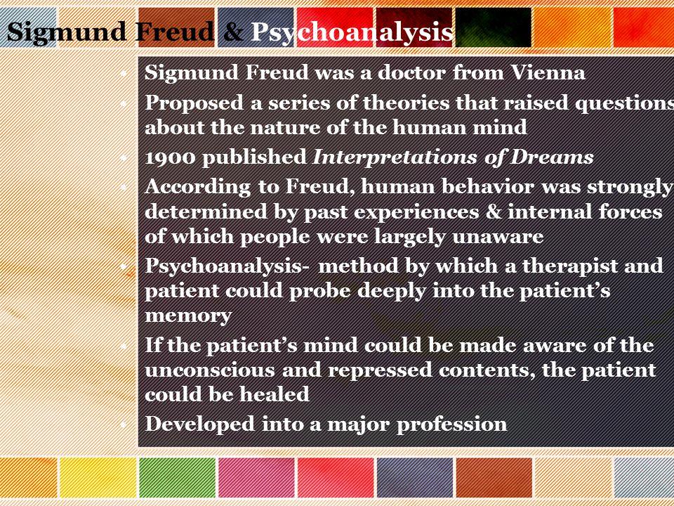 Sigmund Freud & Psychoanalysis