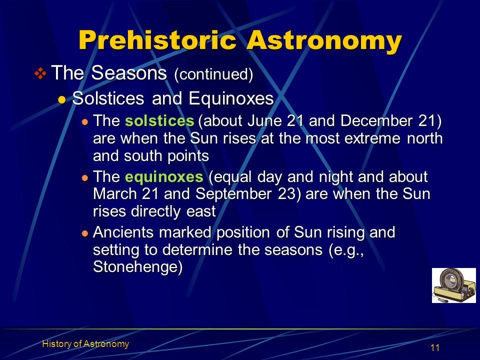 Prehistoric Astronomy