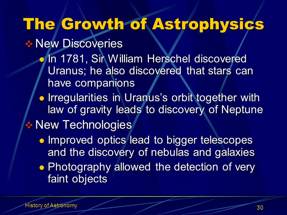 The Growth of Astrophysics
