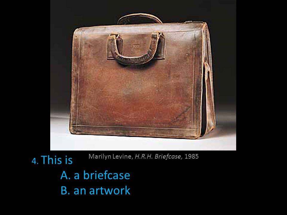 Marilyn Levine, H.R.H. Briefcase, 1985