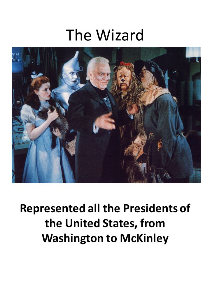 The Wizard Represented all the Presidents of the United States, from Washington to McKinley