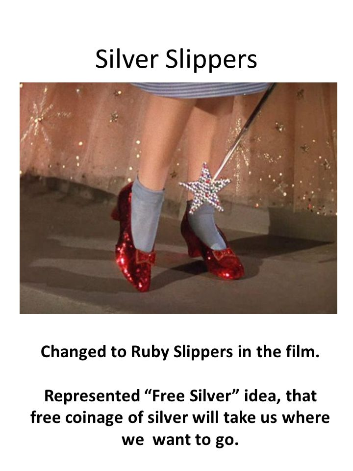 Changed to Ruby Slippers in the film.
