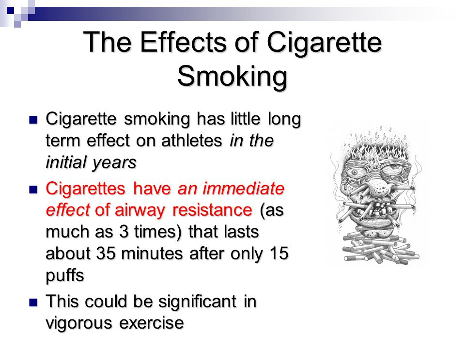 The Effects of Cigarette Smoking