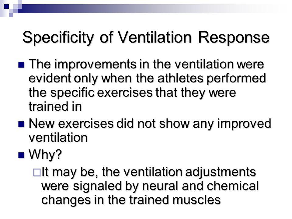 Specificity of Ventilation Response