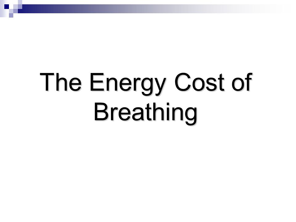 The Energy Cost of Breathing