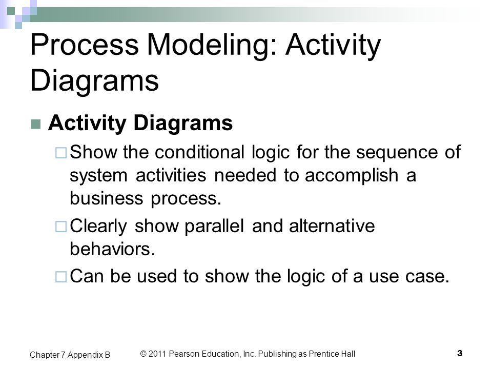 Process Modeling: Activity Diagrams