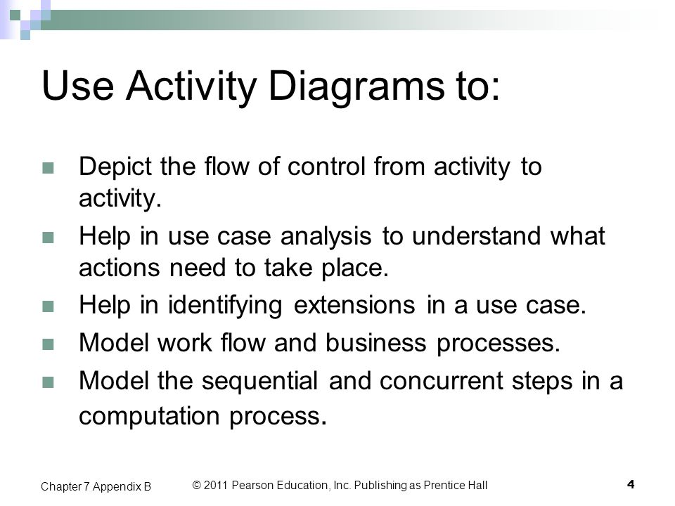 Use Activity Diagrams to: