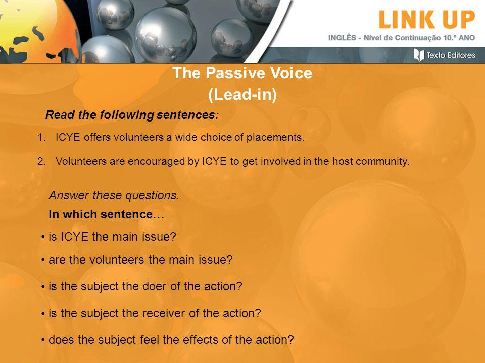 The Passive Voice (Lead-in)