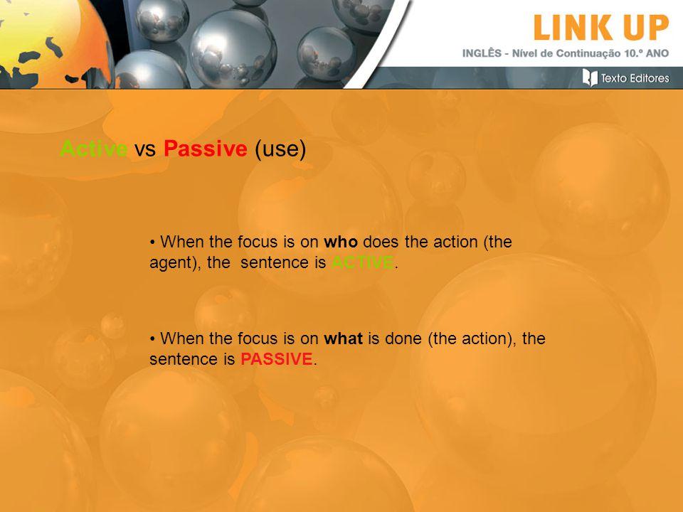 Active vs Passive (use)