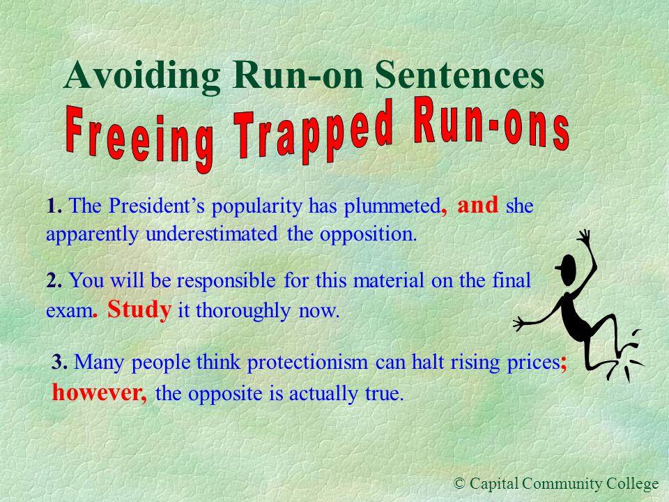 Avoiding Run-on Sentences