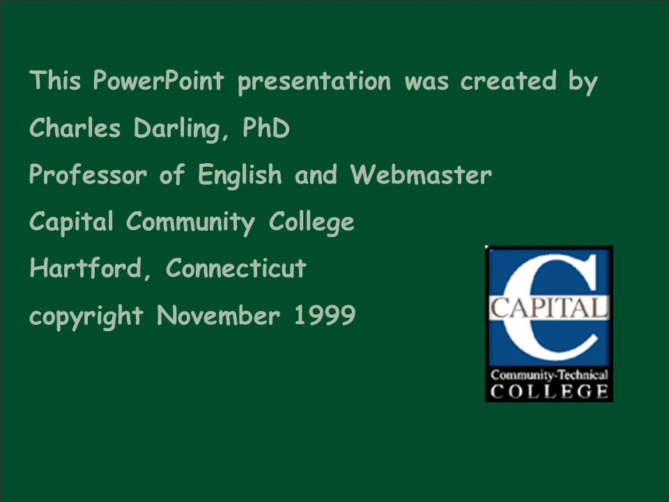 This PowerPoint presentation was created by