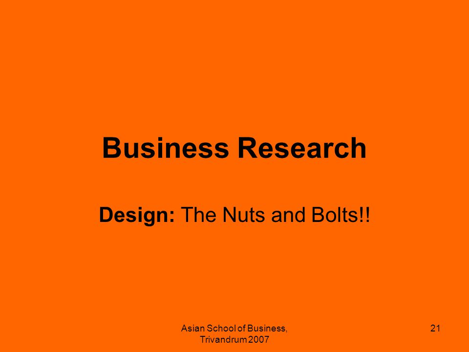 Design: The Nuts and Bolts!!