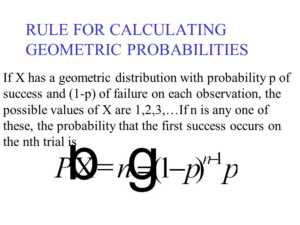 RULE FOR CALCULATING GEOMETRIC PROBABILITIES
