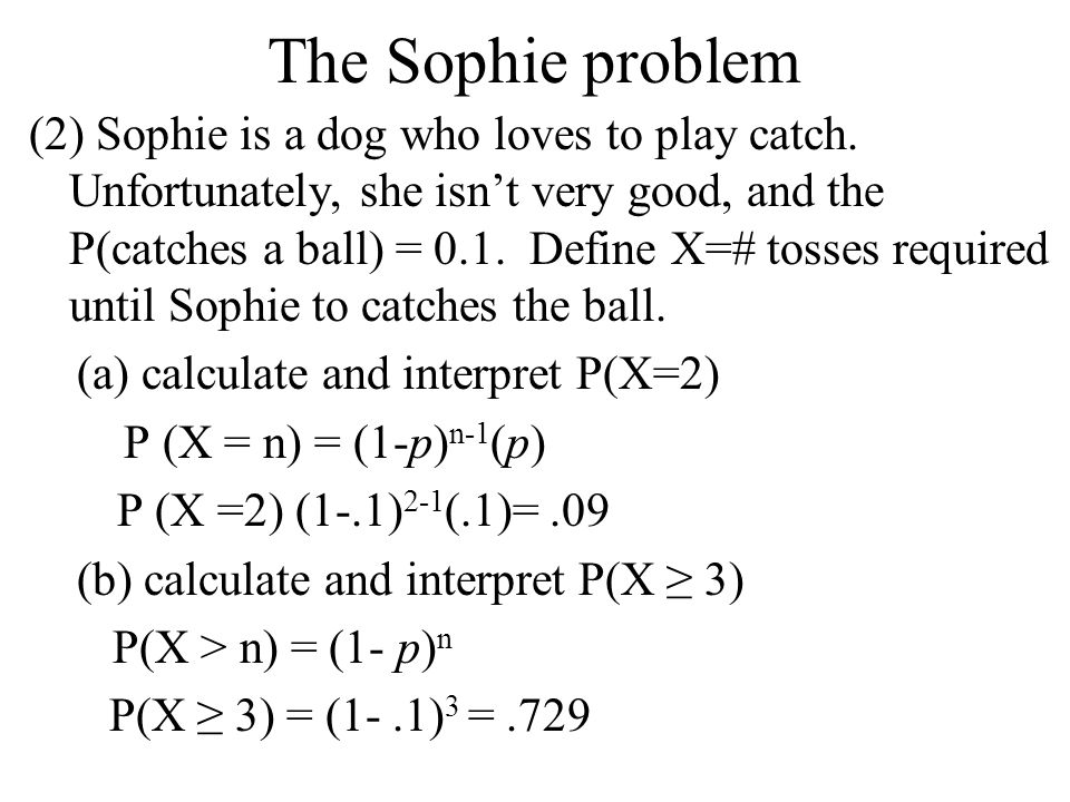 The Sophie problem