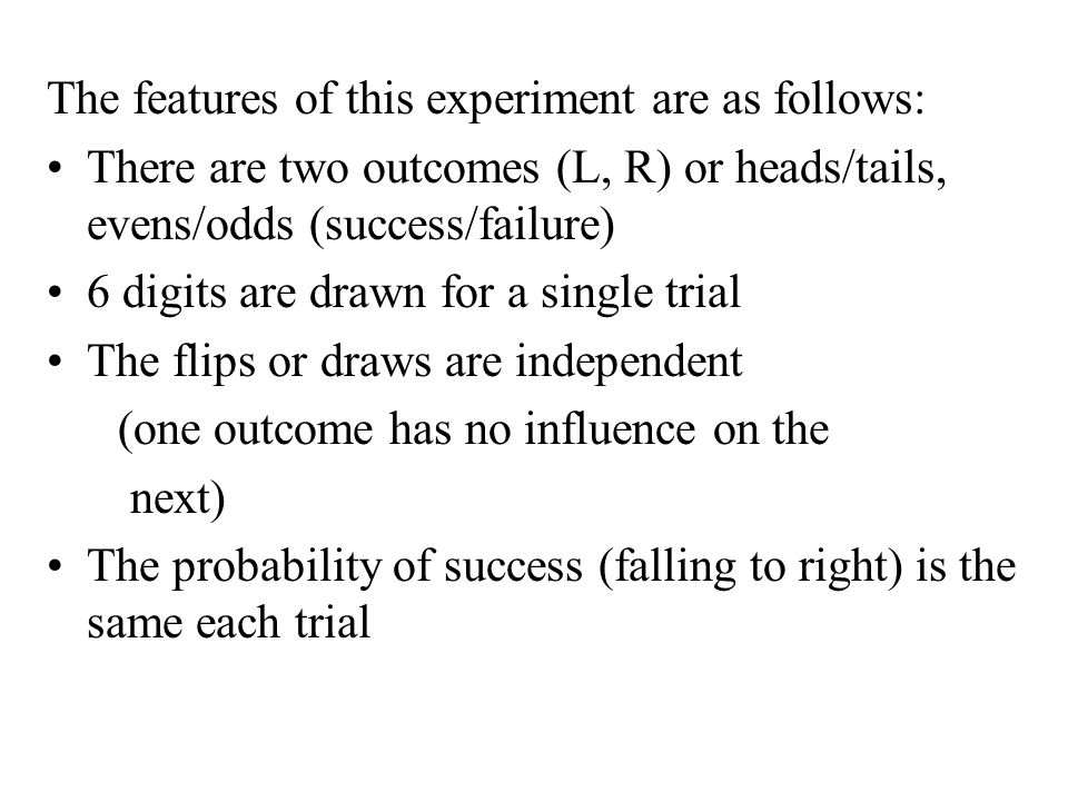 The features of this experiment are as follows: