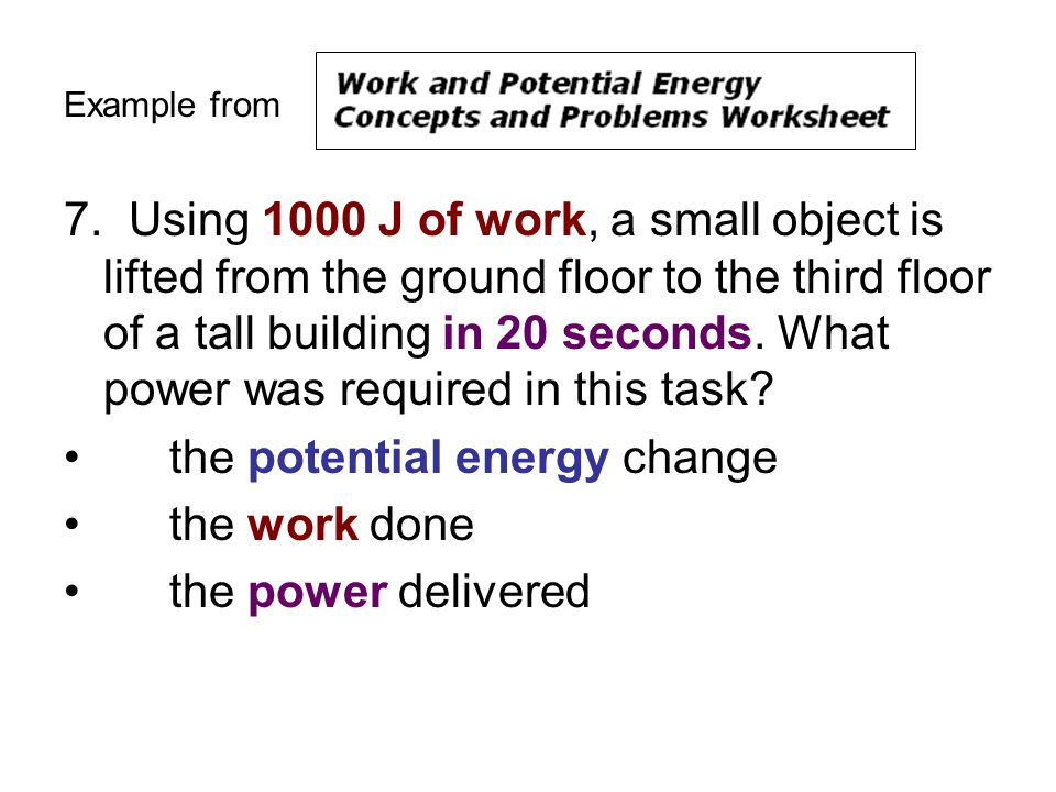 Class Notes WPE Problems Equation Sheet ppt download – Work and Power Worksheet