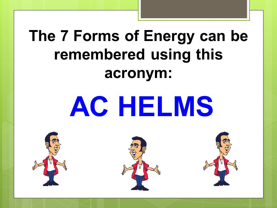 Notes on the different types of energy - ppt download