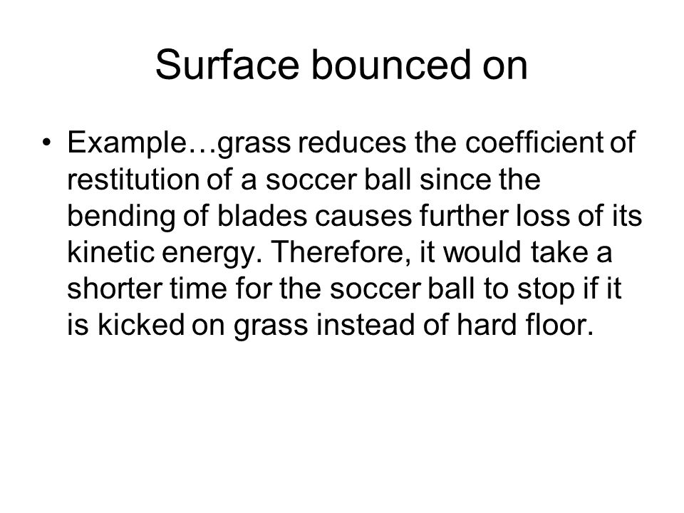 Surface bounced on
