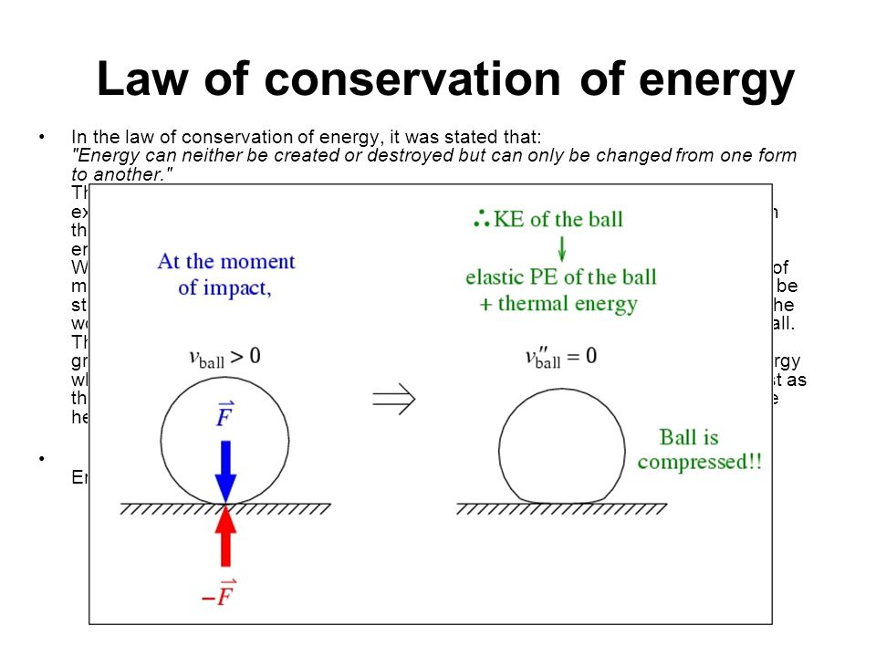 Law of Conservation of Energy Examples