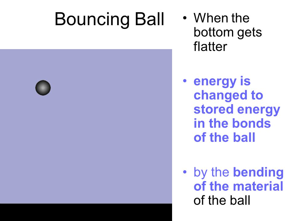 Bouncing Ball When the bottom gets flatter