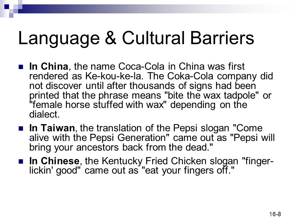 Language & Cultural Barriers