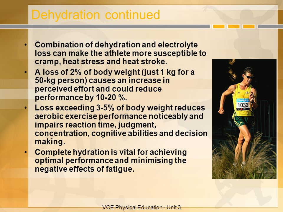 Dehydration continued