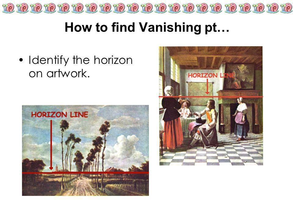 How to find Vanishing pt…