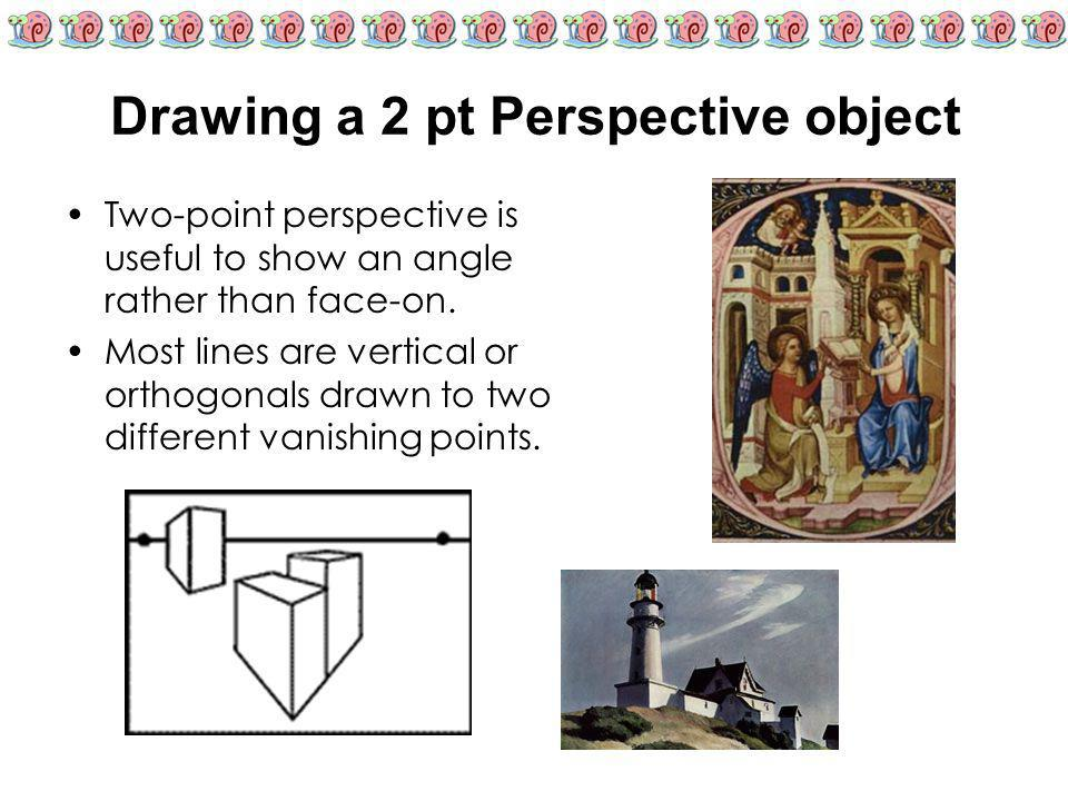 Drawing a 2 pt Perspective object