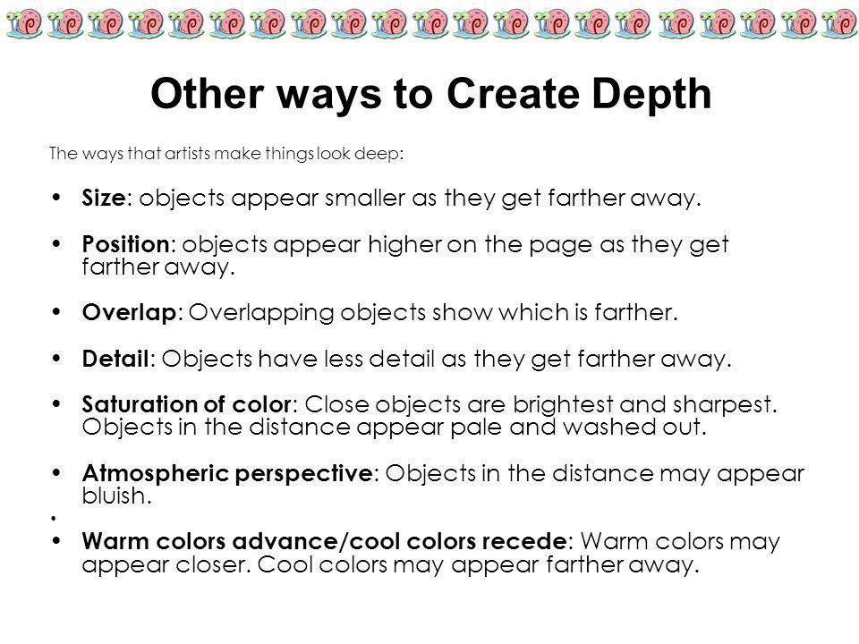 Other ways to Create Depth