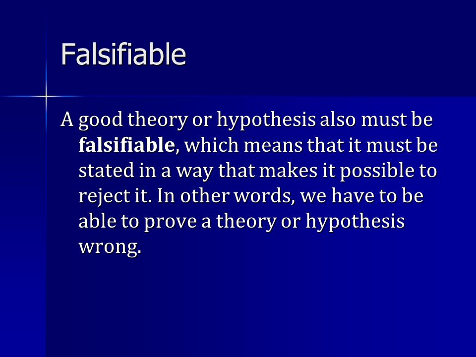 Falsifiable