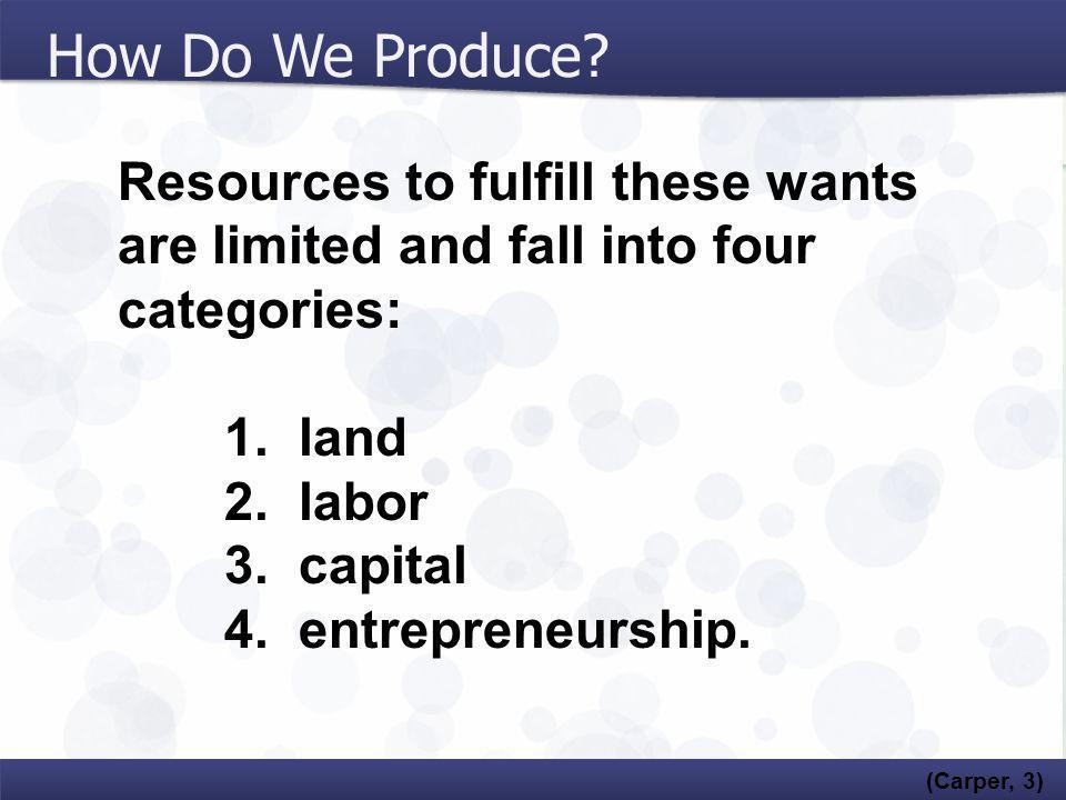 How Do We Produce