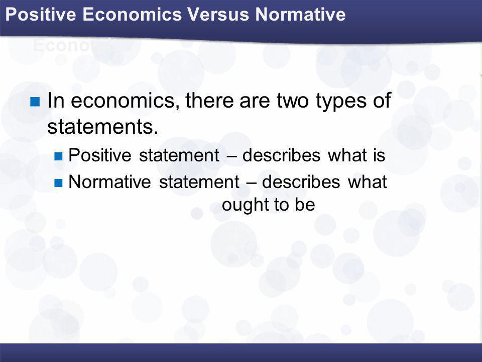 positive economics vs normative economics