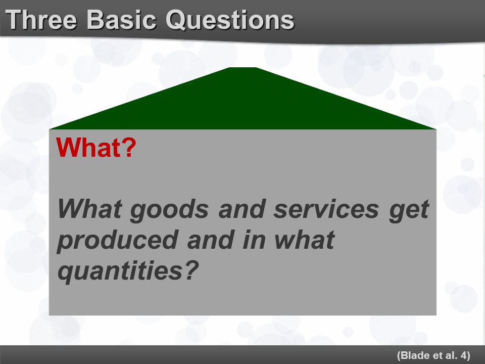What goods and services get produced and in what quantities