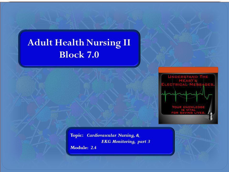 Adult Health Nursing II