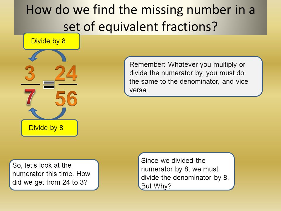 how to find the numerator