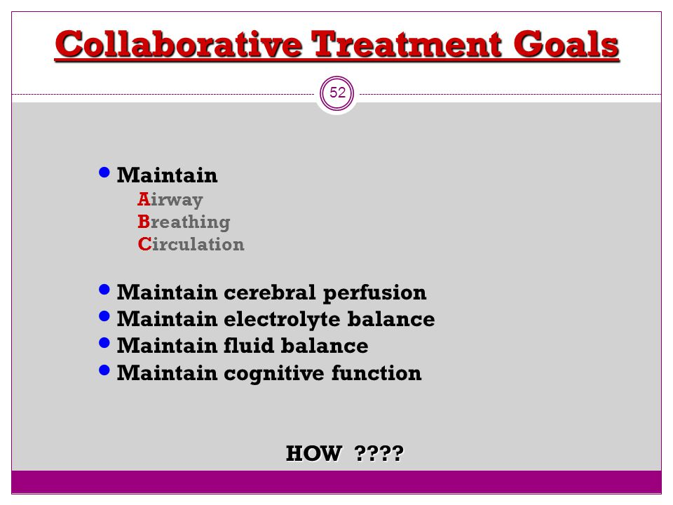 Collaborative Treatment Goals