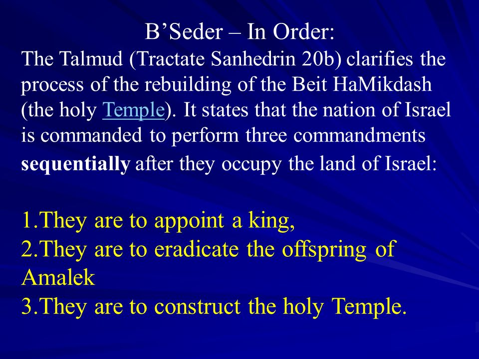 1.They are to appoint a king,