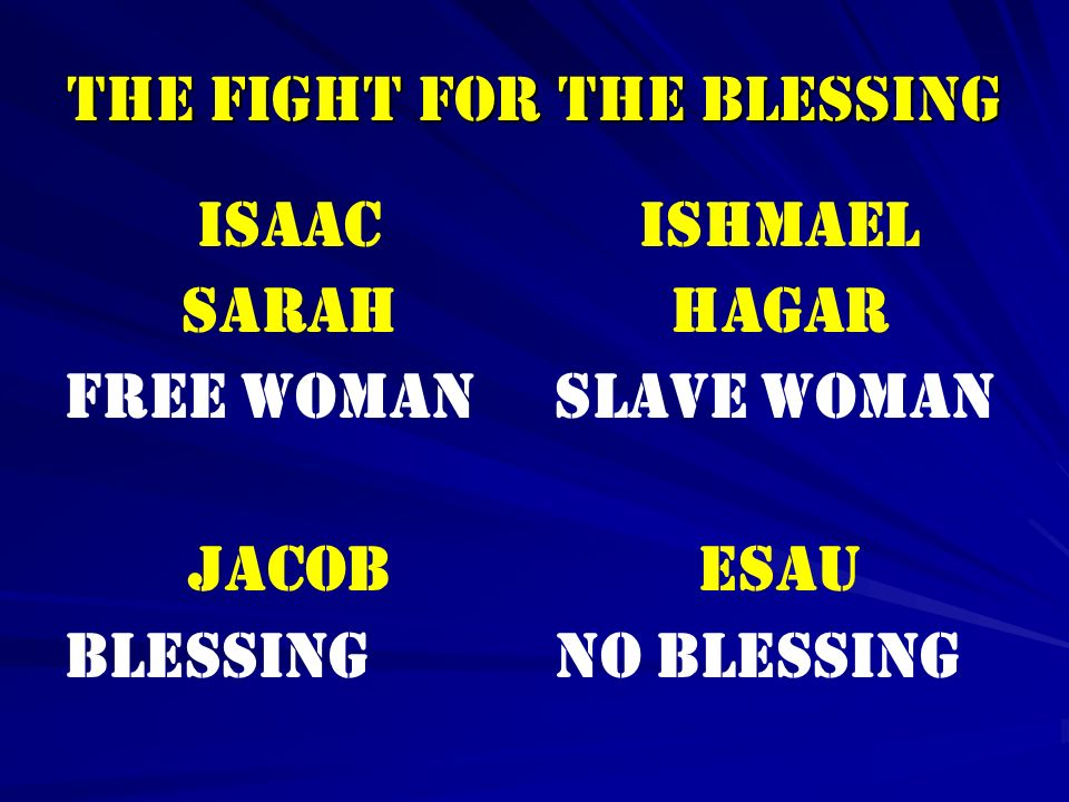 THE FIGHT FOR THE BLESSING