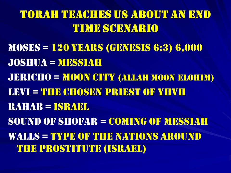 TORAH TEACHES US ABOUT AN END TIME SCENARIO