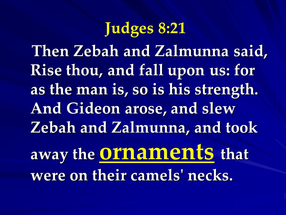 Judges 8:21