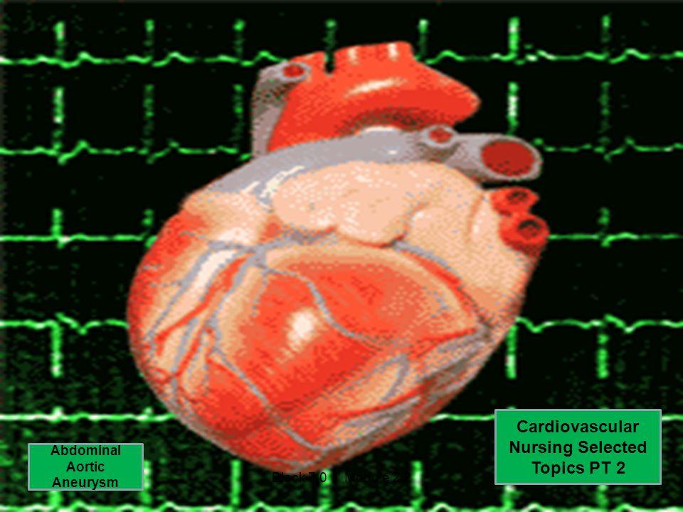 Cardiovascular Nursing Selected Topics PT 2 Abdominal Aortic Aneurysm