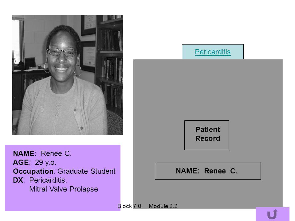 Patient Record NAME: Renee C.